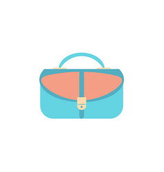 women handbag flat icon blue modern bag isolated vector image