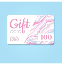 Gift Card business discount template with vector image vector image
