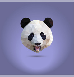 low poly panda the head of a chinese bear from vector image