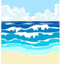 ocean with waves vector image