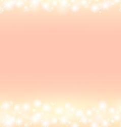 romantic abstrack sparkling frame background vector image