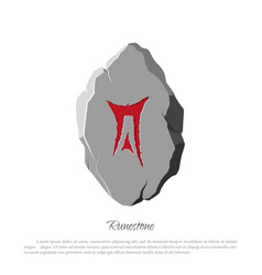 rune stone on a white background in cartoon style vector image