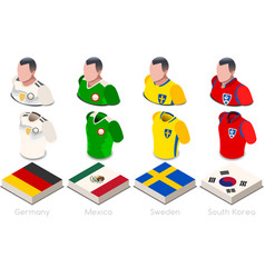 world cup group f jersey set vector image