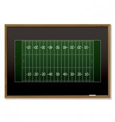 american football blackboard vector image vector image