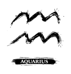 Aquarius symbol vector image vector image