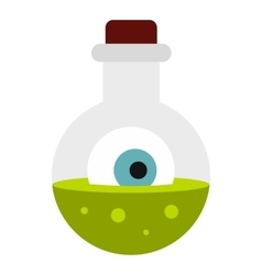 Potion in flask icon flat style vector image vector image