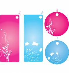 set of four shopping labels vector image
