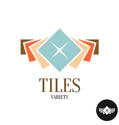 Tiles variety logo Row of the color square tiles vector image vector image