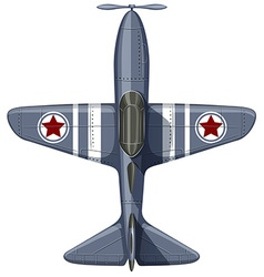 War plane on white vector image vector image