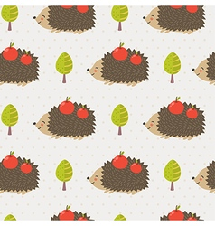 Cute hedgehog seamless pattern vector image vector image