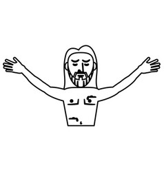 jesus christ resurrection symbol outline vector image
