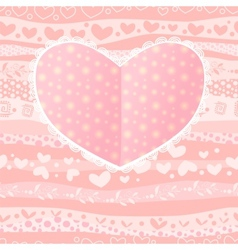 Love Valentines Day Wedding Heart Card vector image vector image