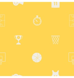 Seamless pattern with basketball icons vector image
