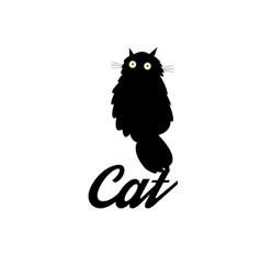 Symbol of a black cat vector image