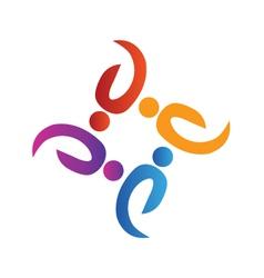 Teamwork volunteer people logo vector image vector image