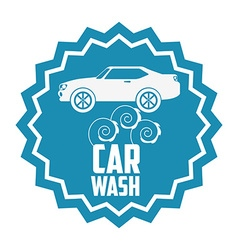 car wash design vector image vector image