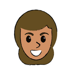 cartoon face female comic image vector image vector image