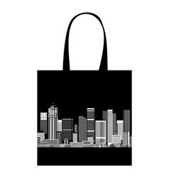 Cityscape shopping bag design urban art vector image vector image