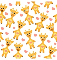 Cute cartoon giraffe seamless texture vector image vector image