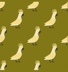 seamless pattern of gold parrot vector image