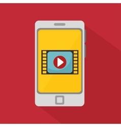 smartphone video player media vector image
