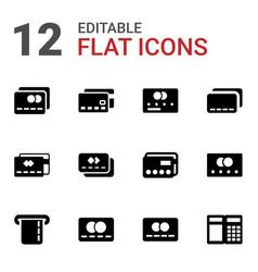 12 debit icons vector