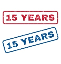 15 Years Rubber Stamps vector