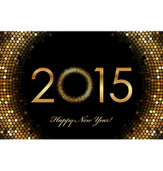 2015 Happy New Year glowing background vector