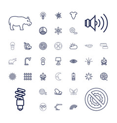 37 bright icons vector