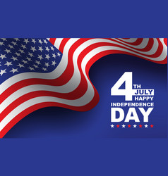 4th july happy independence day vector image