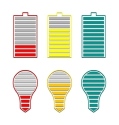 A set of indicators vector image