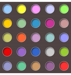Abstract multicolored holes vector image
