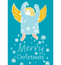 angel with snowflakes vector image
