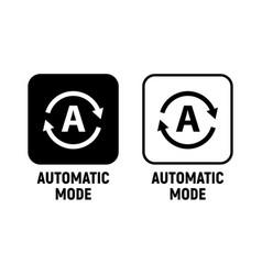 automatic mode smartphone icon auto mode vector image