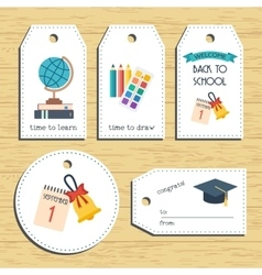 Back to school gift tags Ready to use Back to vector image