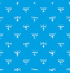 badminton pattern seamless blue vector image