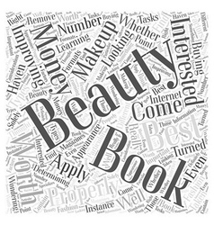 Beauty Books Are They Worth Your Money Word Cloud vector image vector image