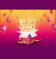 big win gambling advertising vector image