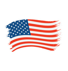 Brushstroke painted flag usa vector