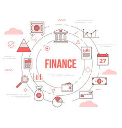 Business finance concept with icon set template vector