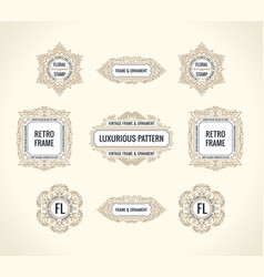 Calligraphic design elements vintage vector