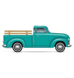 Classic pickup truck vector