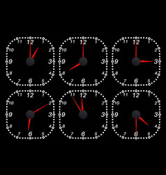 Clock face set time indication vector