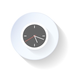 Clock the end of the working day close flat icon vector