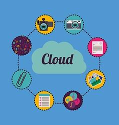 cloud computing vector image