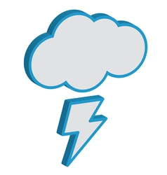 Cloud with lightning weather forecast icon EPS10 vector