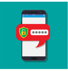 concept of smartphone security vector image