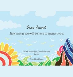 condolence card vector image