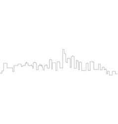 Continous line skyline of manhattan vector