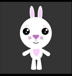 cute rabbit rabbit smiling gray vector image